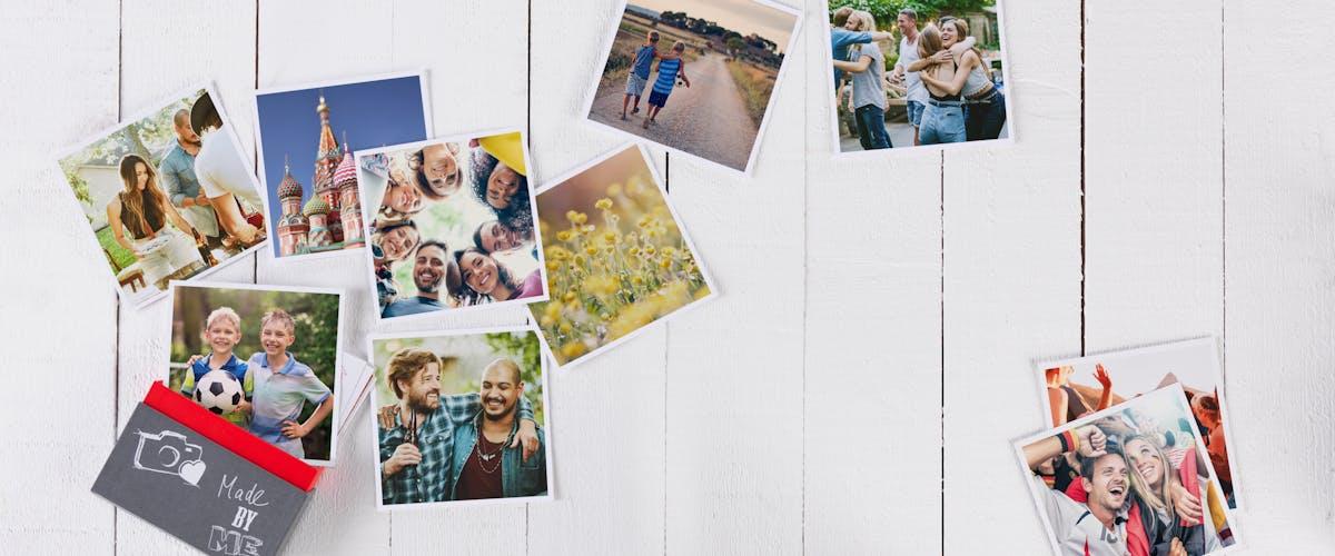 Planches de bois avec photos et éclairage