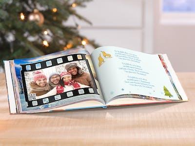 Fotobuch mit Weihnachtsliedern und weihnachtlichen Motiven