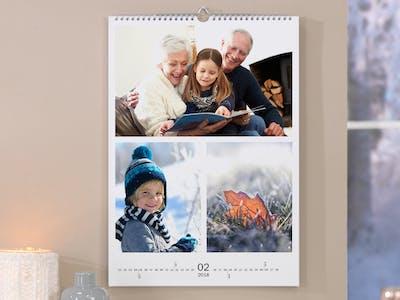 Mit einem Kalender mit mehrern Fotos setzt du mehrere Highlights vergangener Monate als Collage in Szene.