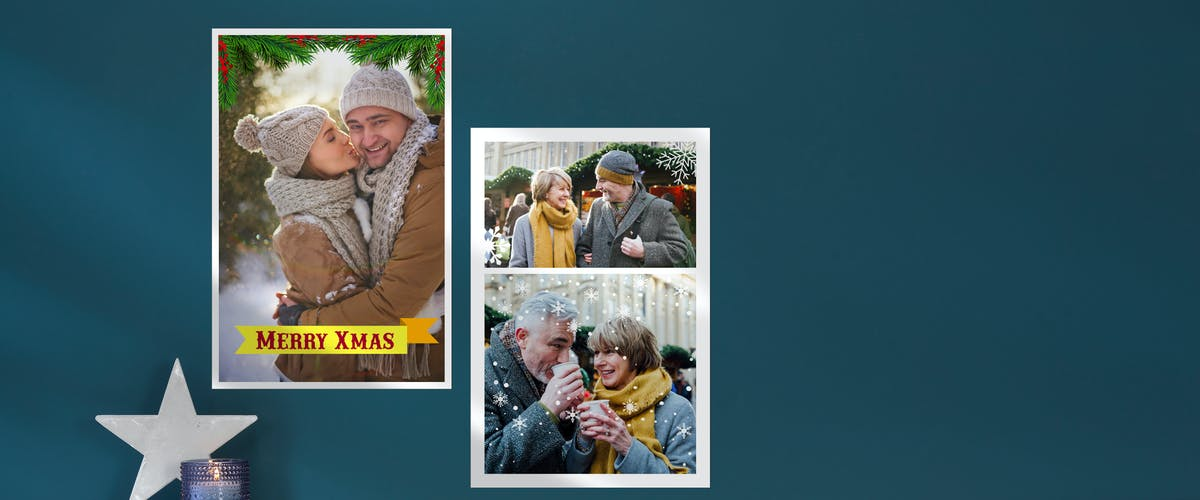 Fotoposter Vorlage zu Weihnachten