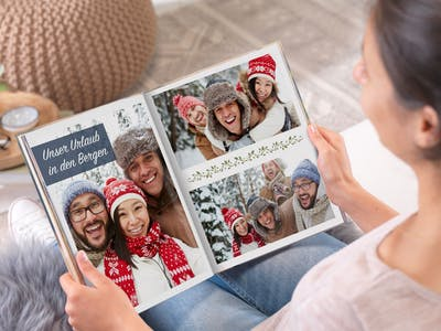 Gute Freunde und Lieblingskollegen werden sich über persönliche Abschiedsgrüße im Pixum Fotobuch besonders freuen.