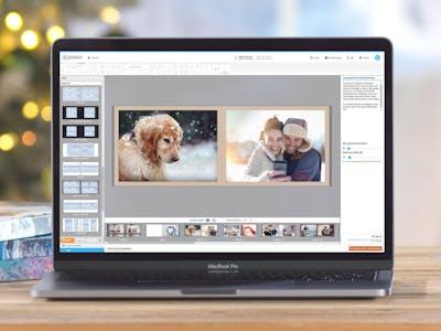 Online-Gestaltung eines Fotoalbums.