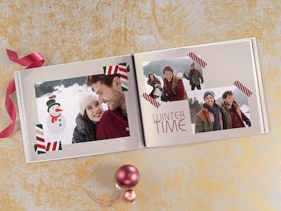 Fotobuch mit weihnachtlichen Cliparts