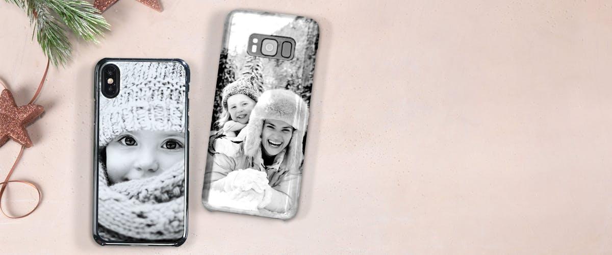 Schwarz-weiß Handyhülle