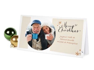 Carte de Noël personnalisée