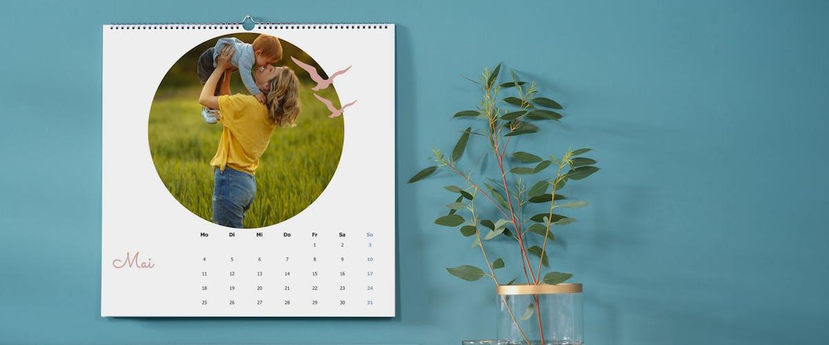 Cliparts und Rahmen im Fotokalender