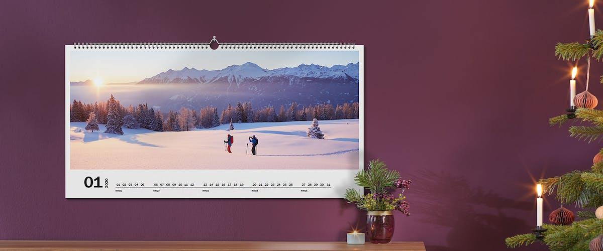Naturkalender im Panorama-Format