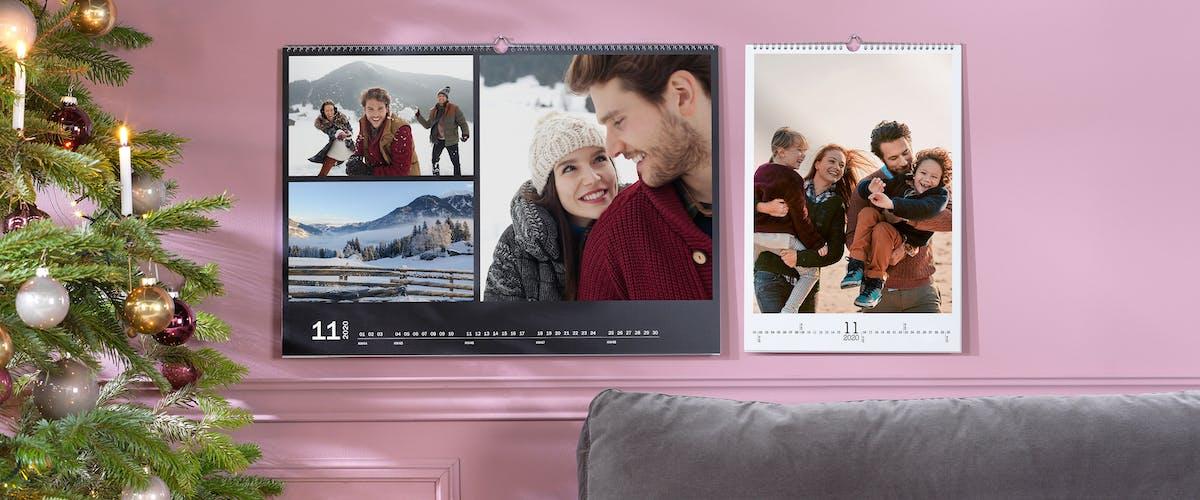 Calendario personalizado con varias fotos