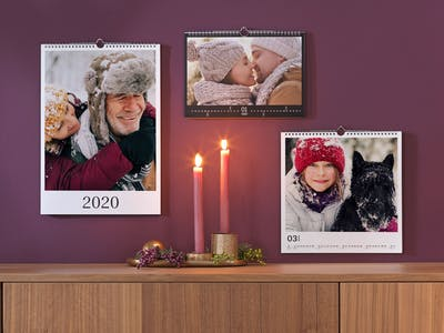 Verschiedene Fotokalenderformate.
