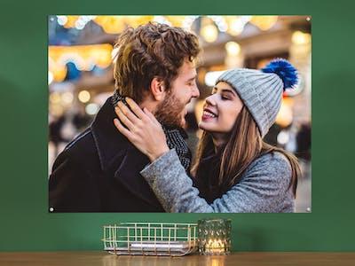 Fotoposter mit einem Pärchen in der Weihnachtszeit