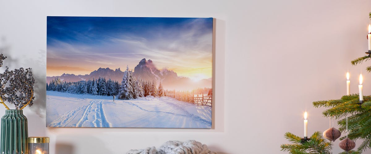 CREATE A CANVAS PRINT WITH YOUR OWN PHOTO