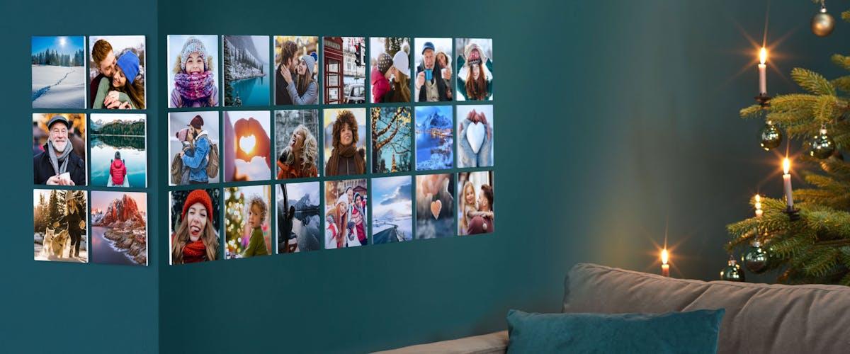 Weihnachtskreationen für die Wand