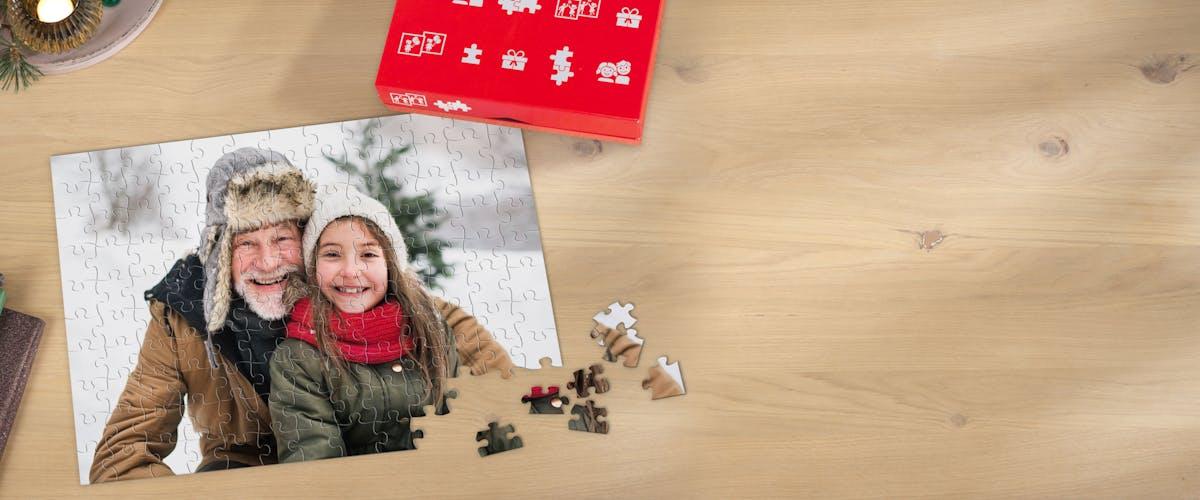 Fotopuzzle als F�llung im Adventskalender