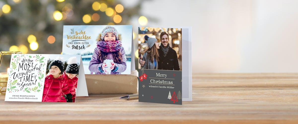 Carte de Noël personnalisée avec photo et design