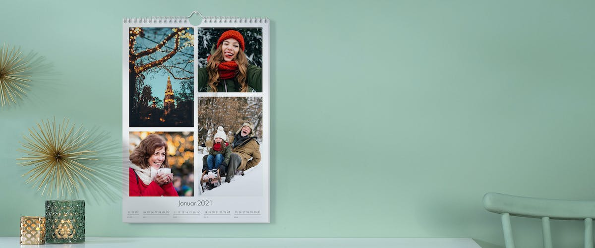 Photo calendar with multiple images