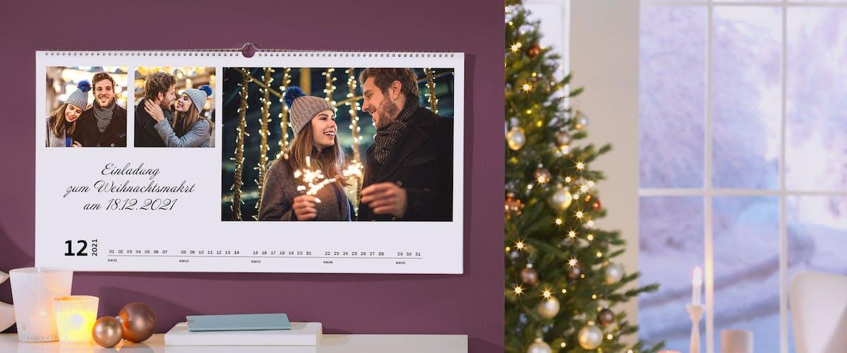 Fotokalender mit Gutscheinen für jeden Monat