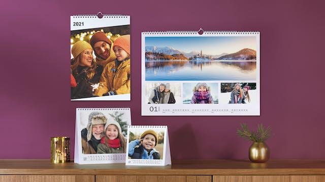 Calendari personalizzati 2021 con foto | Pixum
