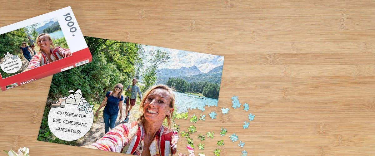 Fotopuzzle als Gutschein