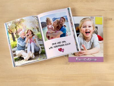Auch als Danksagung an die Eltern eignet sich ein Pixum Fotobuch perfekt.