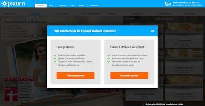 Startbildschirm in der Fotowelt Software: Hier wählen Sie die Gestaltung per Fotobuch Assistent aus.