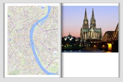 Landkarte im Fotobuch verschieben und bearbeiten
