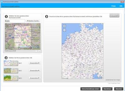 Gestalte deine Landkarte im Fotobuch individuell nach.