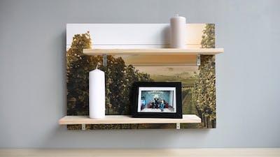 Foto auf Holz.