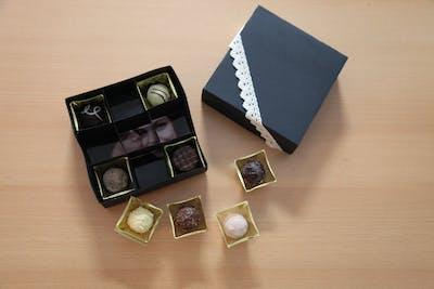 Bonbon doosje versierd met foto's - voor een heerlijke kerstverrassing!