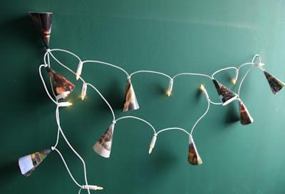 Lichtjesslinger met foto-lampenkapjes: DIY-tip