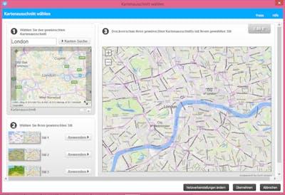 Mit den Plus- und Minus-Schaltflächen unterhalb der Karte kannst du weiter hinein- oder herauszoomen. Mit einem Klick auf die Karte ziehst du die Maus, um den Kartenausschnitt nach rechts, links, oben oder unten zu verschieben.