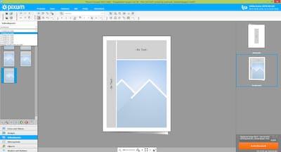 Seitenlayout von einer Pixum Grußkarte im Online-Editor