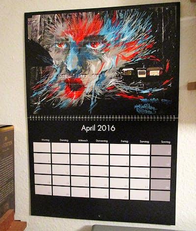 Kalender voorbeeld: New York Street Art - Gezicht