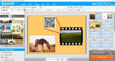 Insertion d'une vid�o dans votre livre photo